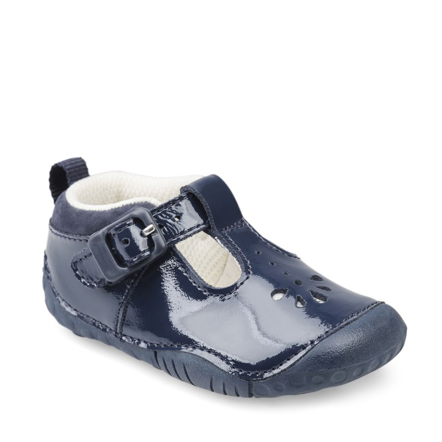 Baby Bubble Pre-walkers - Navy Patent