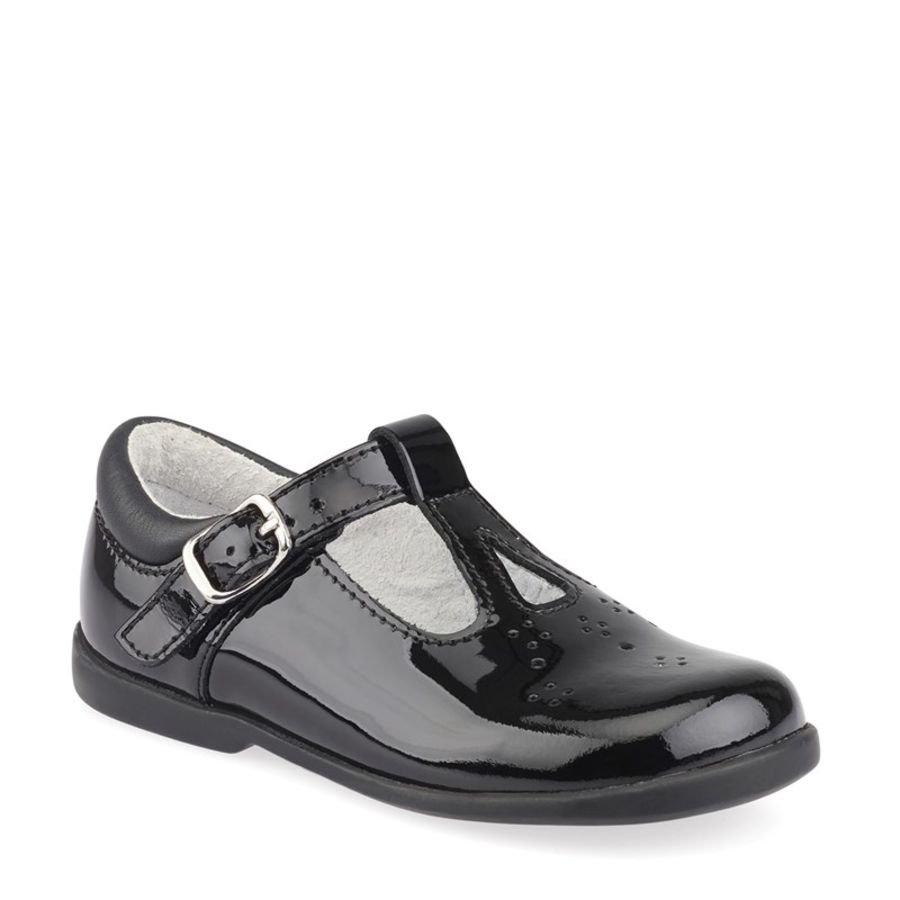 Swirl First-walkers - Black Patent