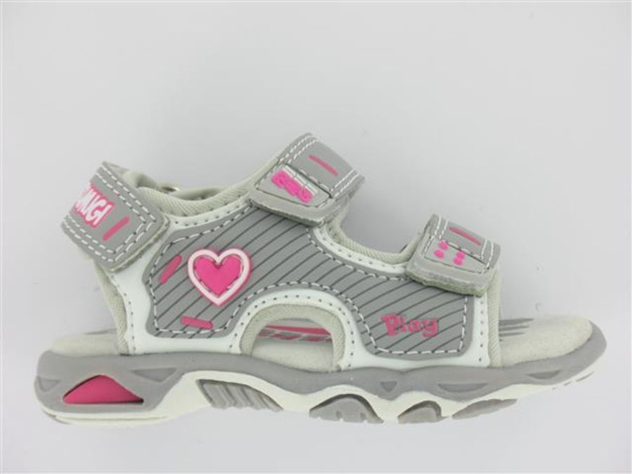 Perla - Sandal in Grey and Pink