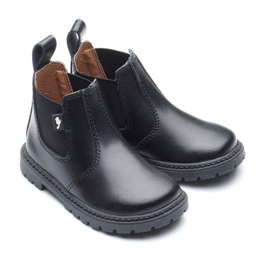 Ranch - Black leather boots