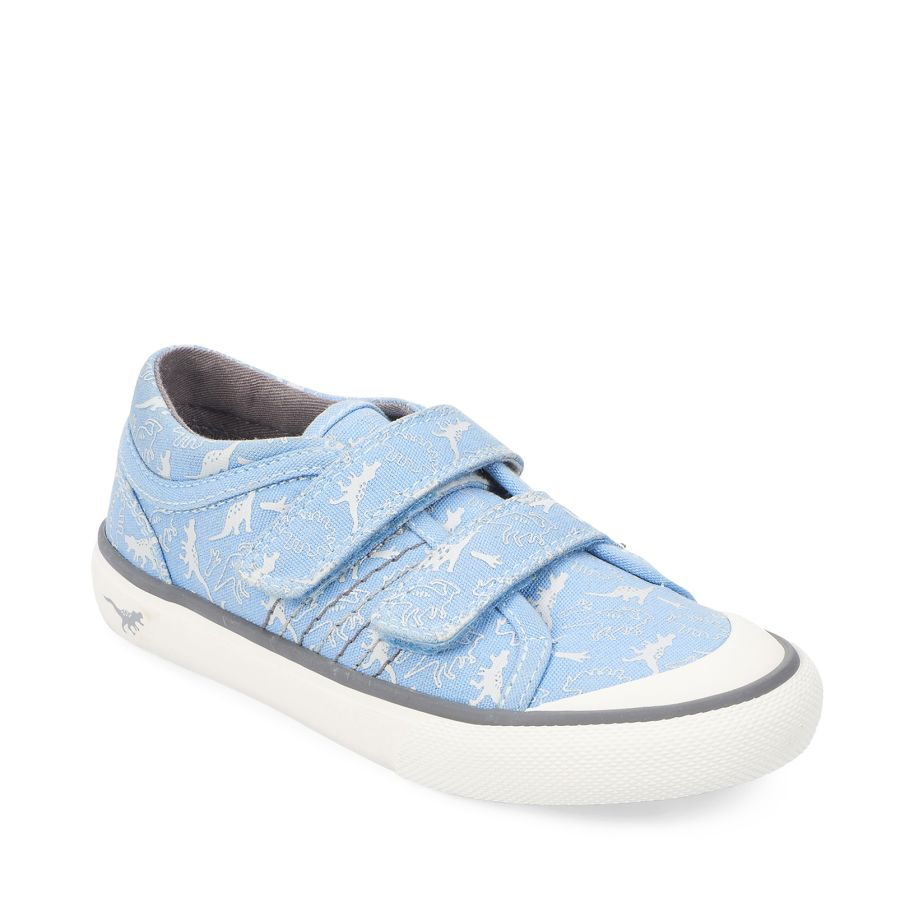 Canvas Jurassic - Pale Blue