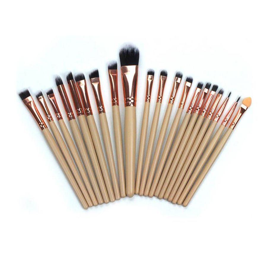20pc Basics Makeup Brushes Brush Set | Beige
