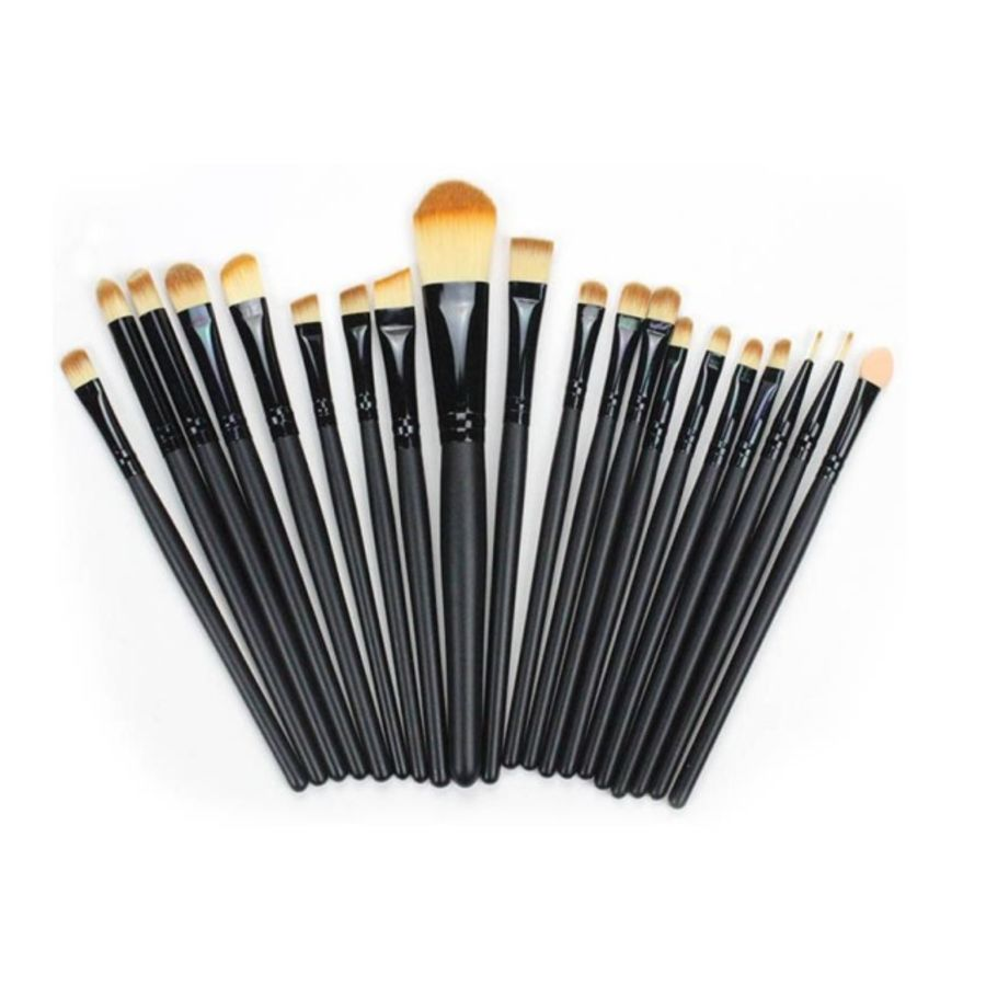 20pc Basics Makeup Brushes Brush Set | Black