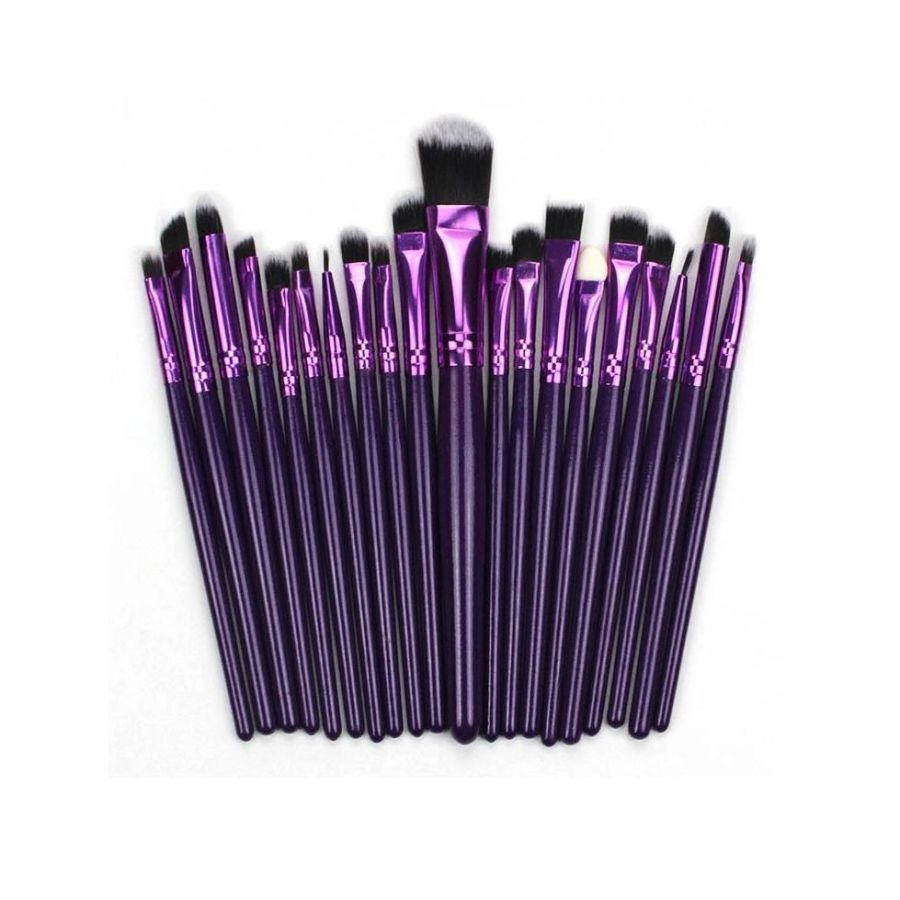 20pc Basics Makeup Brushes Brush Set | Purple