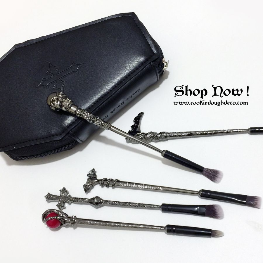 Crypt Makeup Brushes Brush Set with Optional Coffin Case