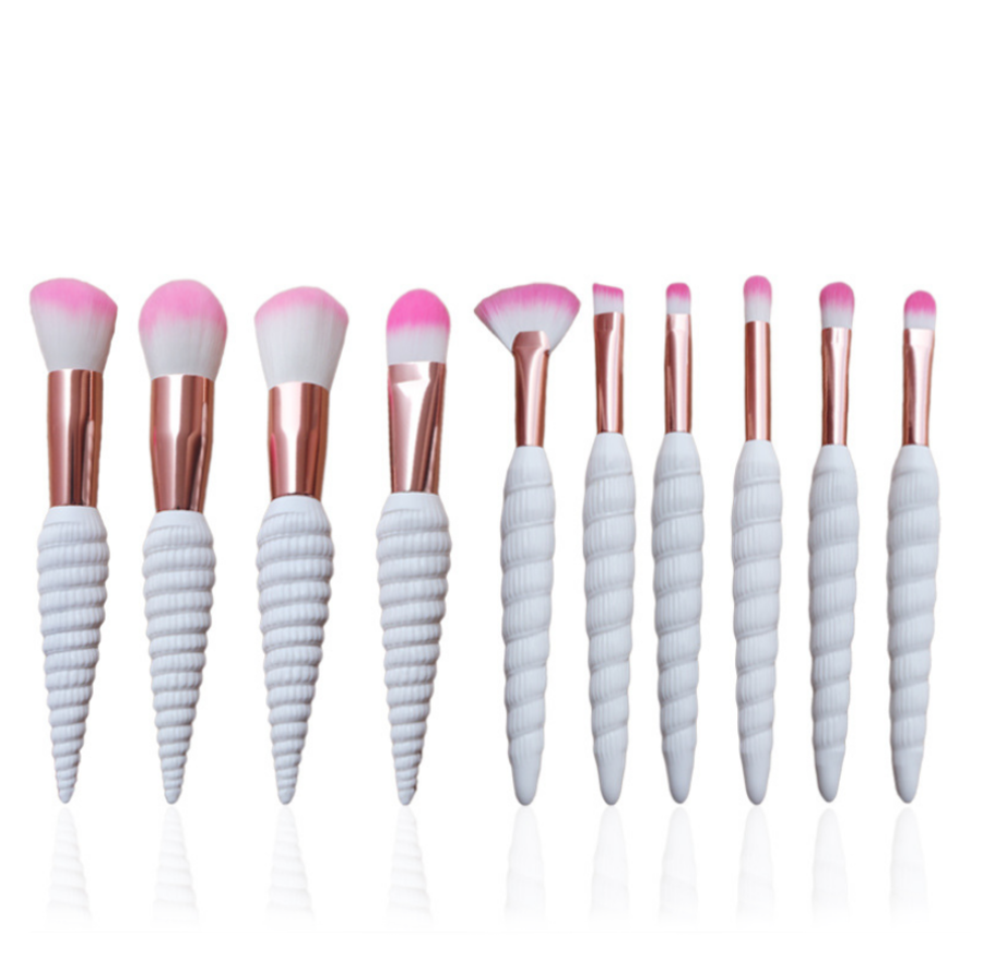 10 Unicorn x Mermais Shell Makeup Brushes