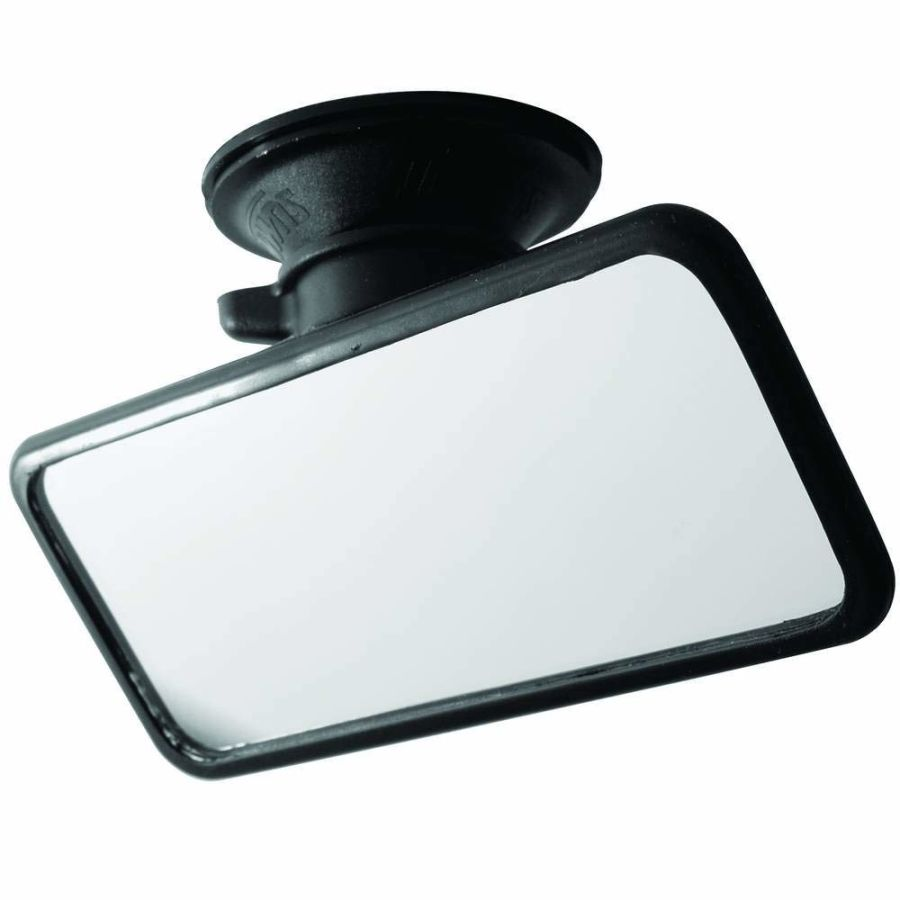 RV-34 Small Flat Glass Mirror with Suction Pad