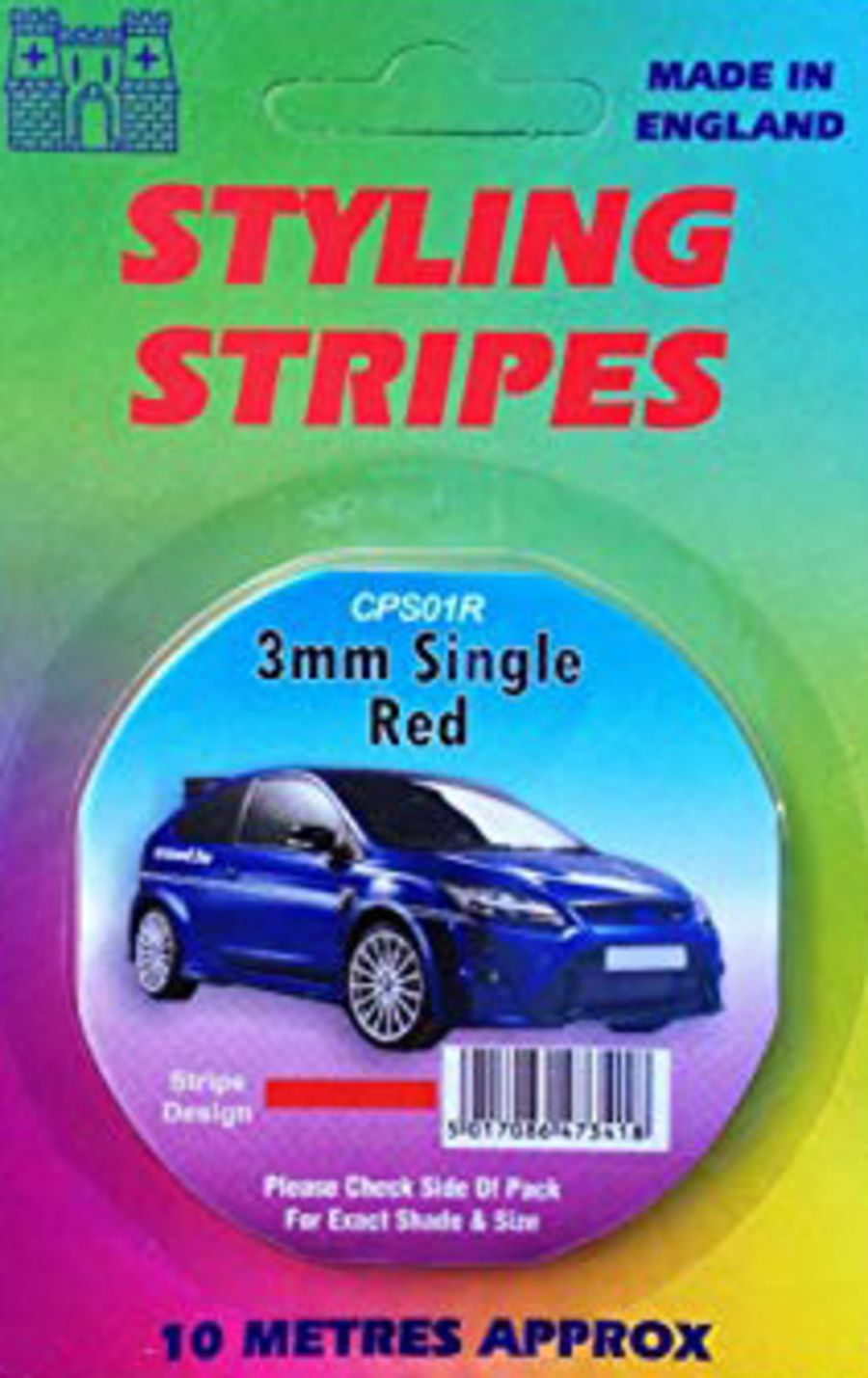 Single Stripe - 3mm Red - 10m Length