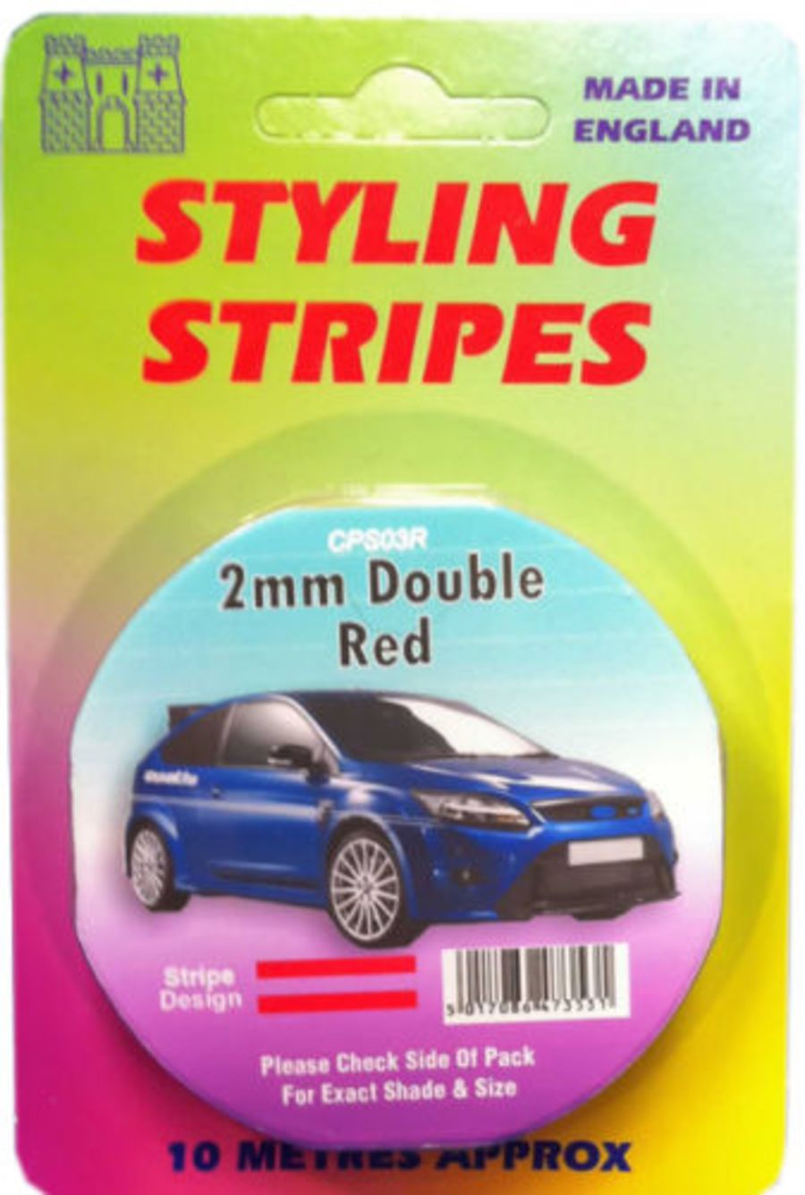 Double Stripe - 2mm Red - 10m Length