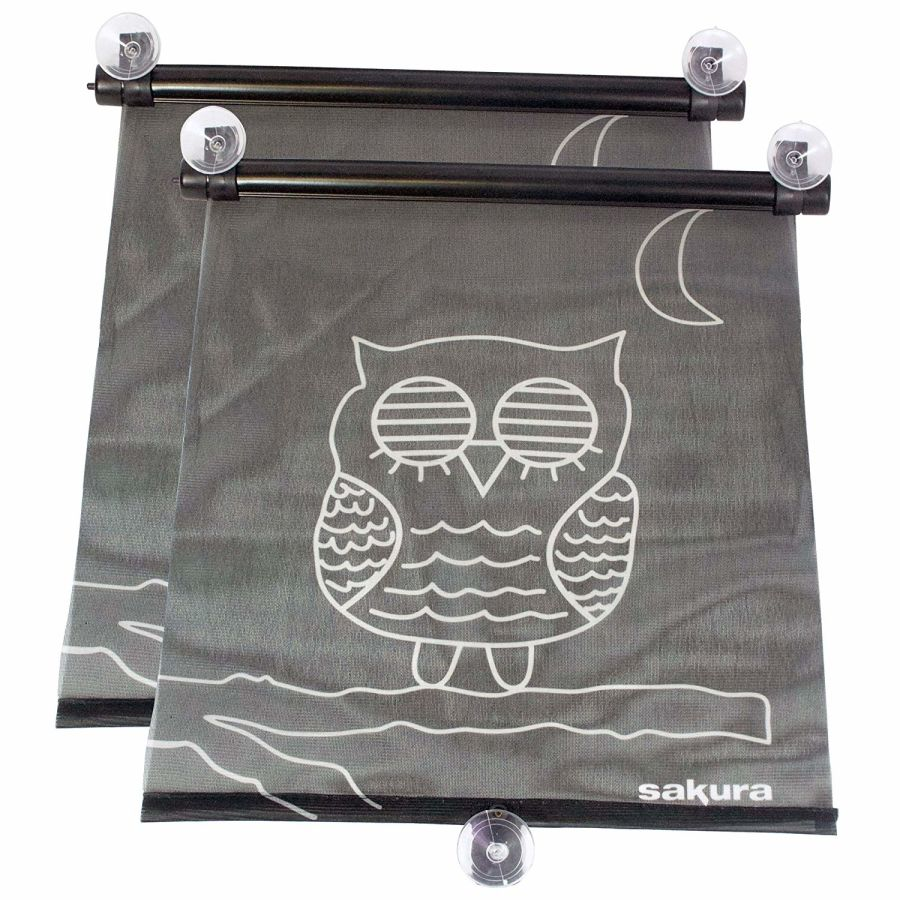 Roller Sunblinds - Owl Design - Pack of 2