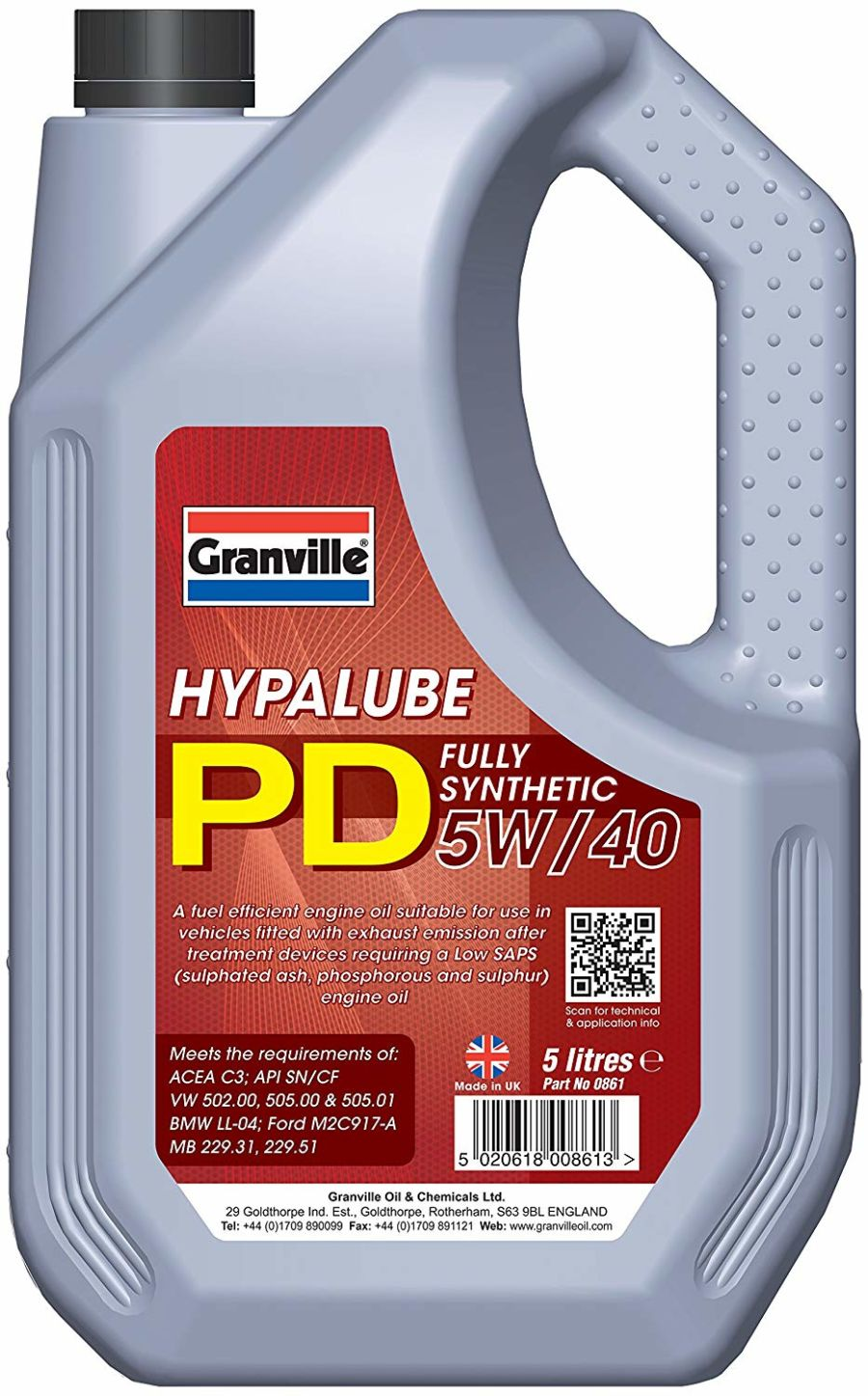Granville Hypalube PD 5W/40 Engine Oil, 5 Litres