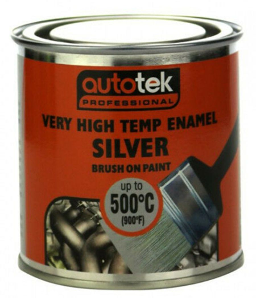 Silver Brush On Paint - Very High Temperature - VHT Paint
