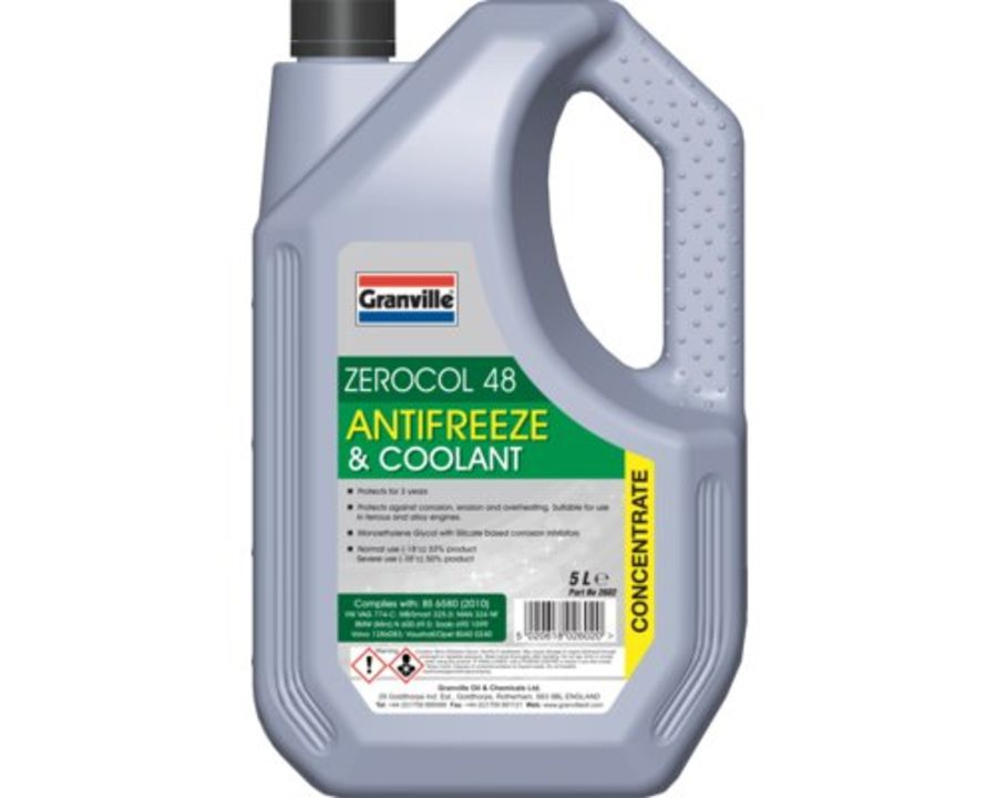 Zerocol 48 Anti-Freeze & Coolant - 5 Litre