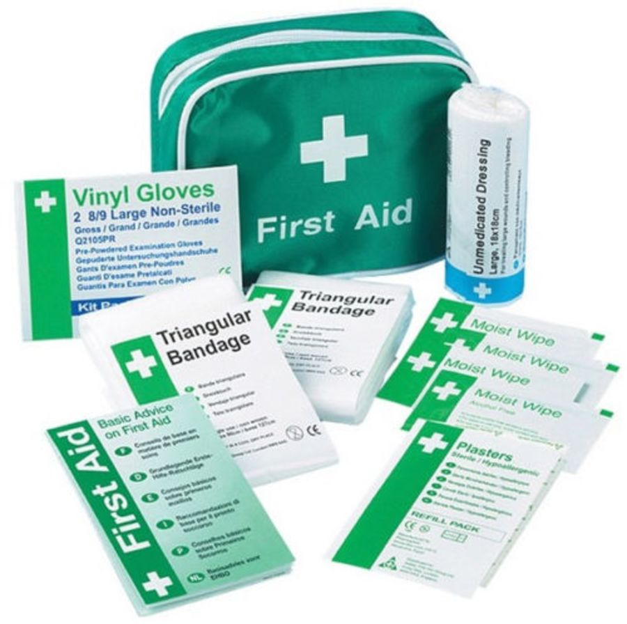 Travel First Aid Kit in Nylon Case - 1 Person