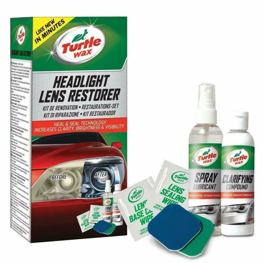 Headlight Restorer Kit Headlamp Cleaning Restores Brightness Kit
