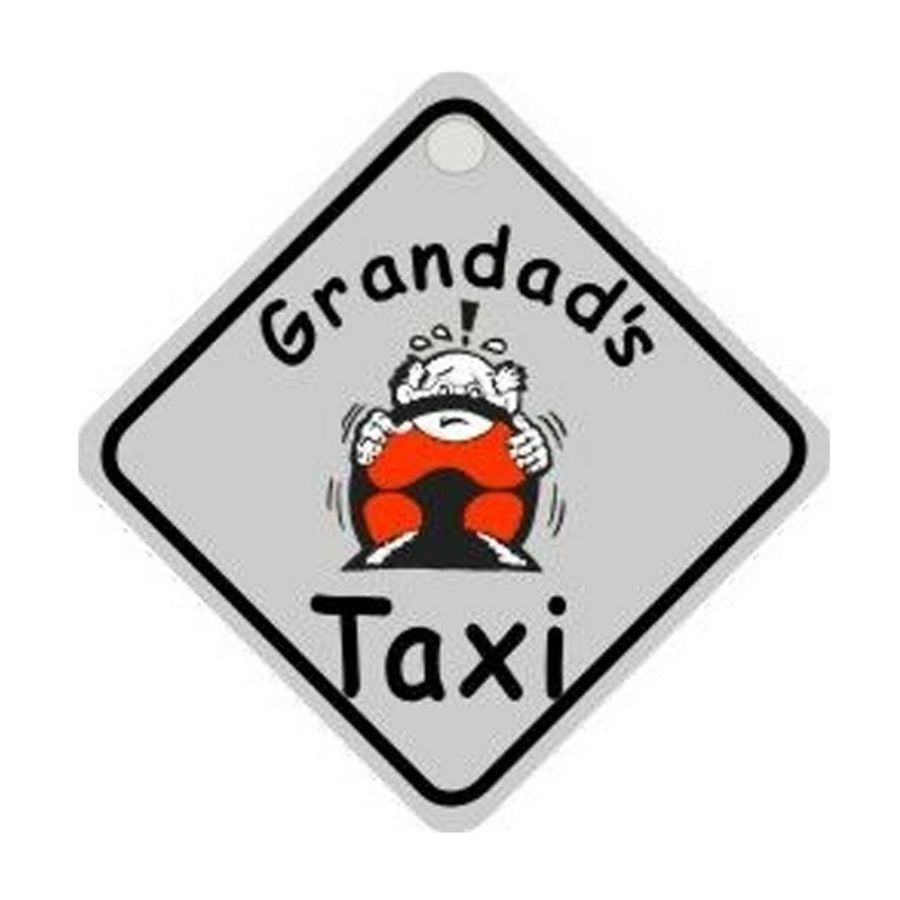 GRANDADS TAXI - DIAMOND HANGER WINDOW SUCTION FUNNY SIGN