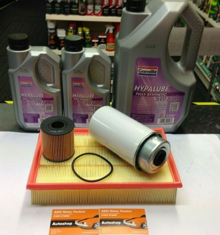 FORD TRANSIT 2.4 MK7 Service Kit - Oil Air Fuel Filters and 7 litres of oil