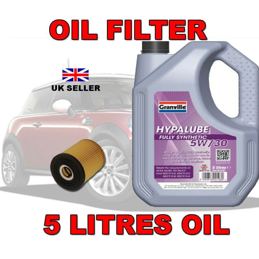 Mini Cooper 1.6 Oil Filter 5w30 Fully Synthetic Oil (5 litres) 2001-2006