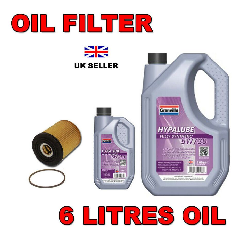 Ford Focus 2.0 TDCi Oil Filter and 5w30 Fully Synthetic Oil (6 litres)