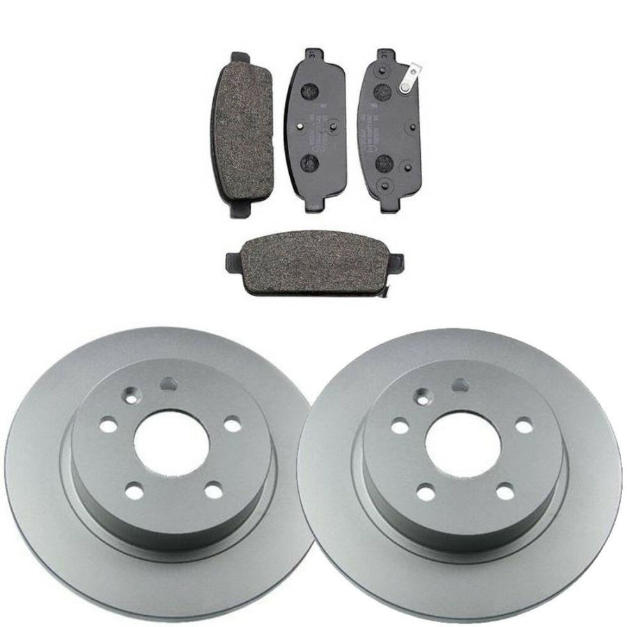 REAR 2 BRAKE DISCS AND PADS 268mm VAUXHALL ASTRA J MK6 1.4 1.6
