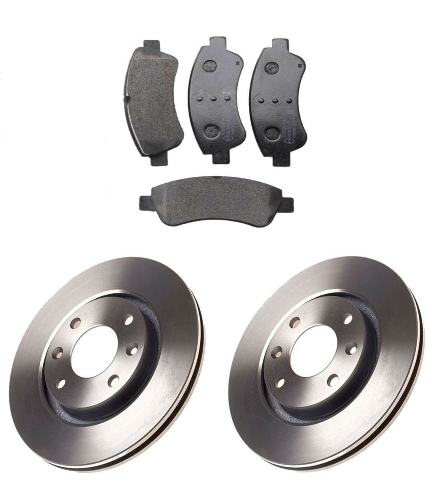 FRONT BRAKE DISCS AND BRAKE PADS FITS PEUGEOT 207 208 307 266MM