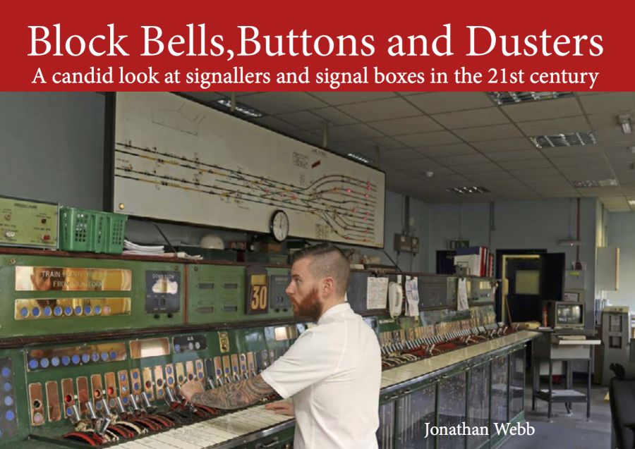 Block Bells,Buttons and Dusters. A 300 page, A4, hard back, all colour book,with approximately 300 pictures, taking a candid look at signallers and signal boxes in the 21st century.