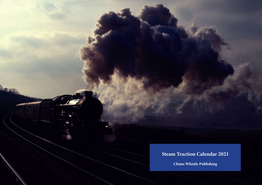 Steam Traction Calendar 2021. At 11x16 inches, this wire bound calendar contains 13 (including cover) beautiful pictures of steam locomotives.