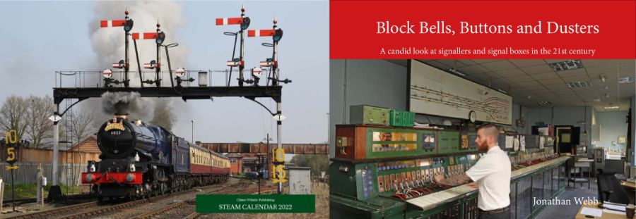 Block Bells, Buttons and Dusters book and 2022 steam calendar combination deal.
