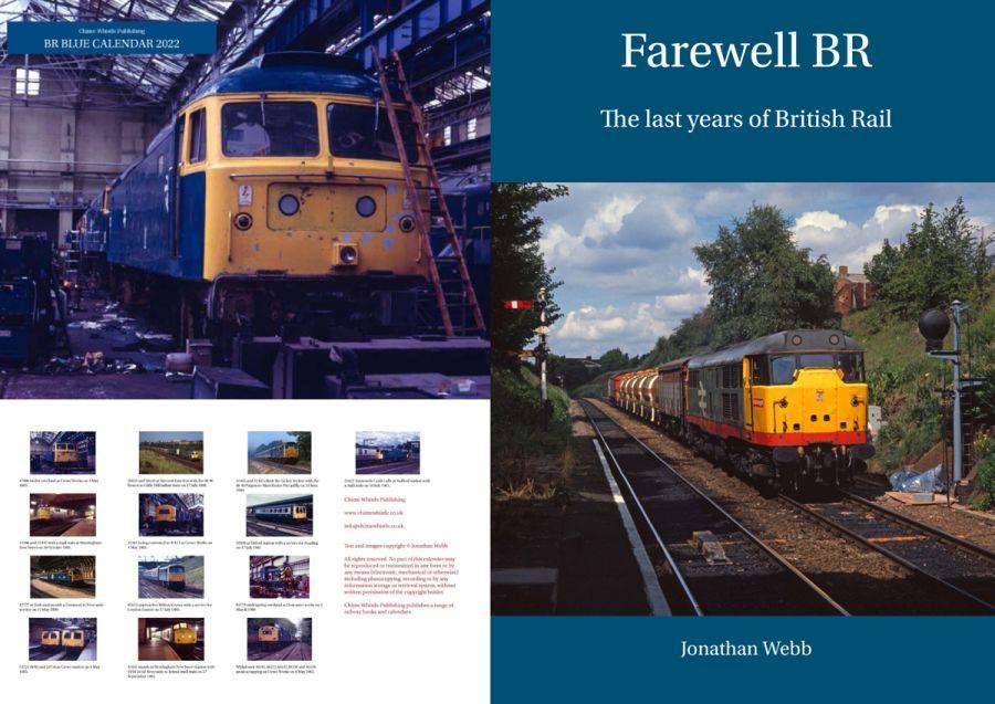 Farewell BR book and 2022 BR blue calendar combination deal.