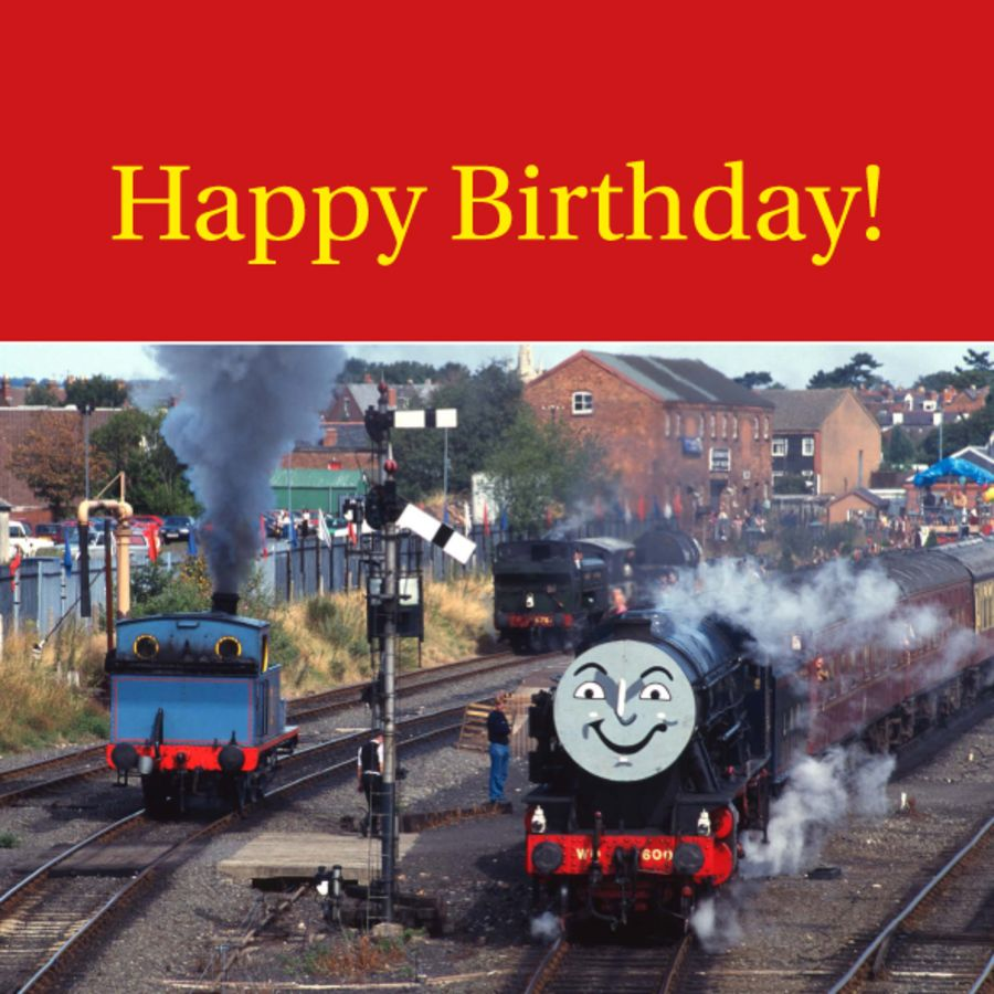 Thomas and Gordon birthday card, envelope included. FREE UK delivery.