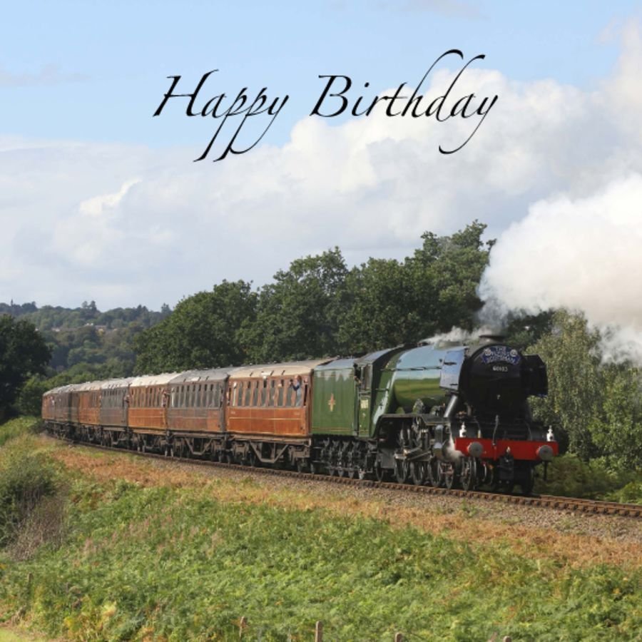 Flying Scotsman birthday card, envelope included. FREE UK delivery.