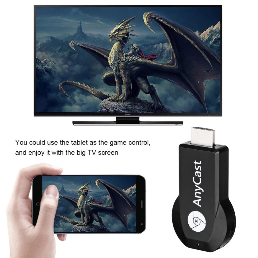 AnyCast M2 Plus Wireless WiFi Display Dongle Receiver 1080P DLNA Airplay B2C2