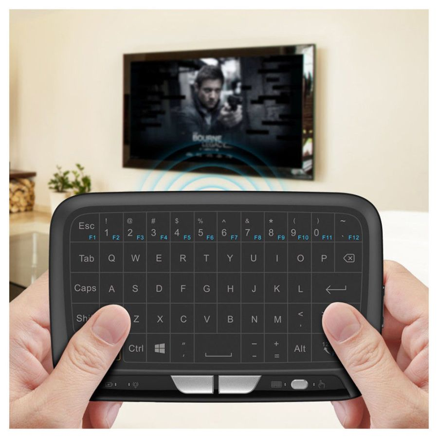 Multi-Touchpad Panel H18 Mini Wireless Keyboard 2.4Ghz For Android TV KODI Box