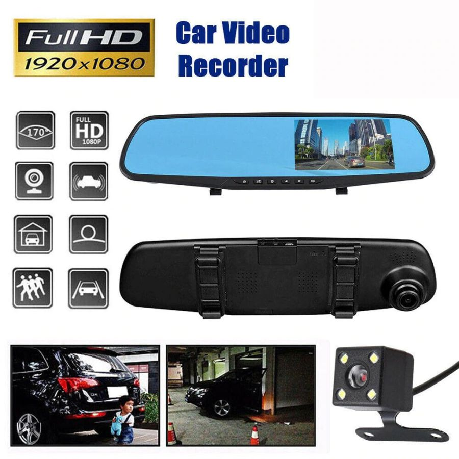1080P Car DVR camera rear-view mirror Video Recorder Mirror Dash cam With Auto Blackbox Night Vision Car DVR Camera