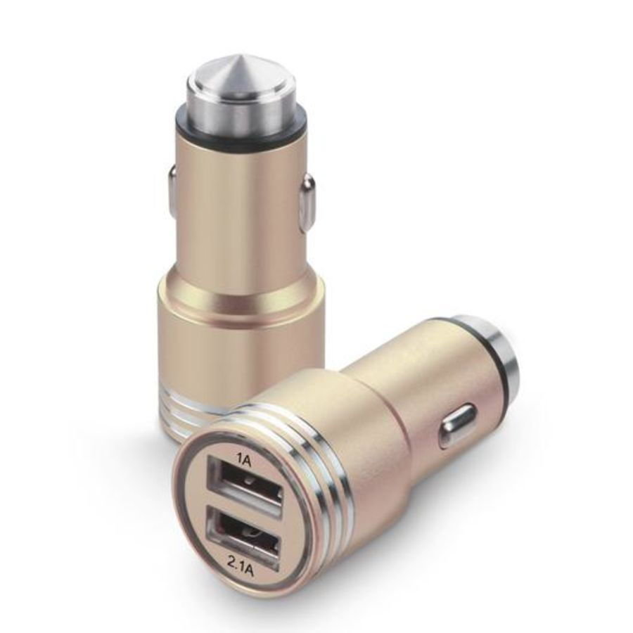 DOUBLE TWIN 2 IN 1 USB IN CAR CHARGER MICRO CIGARETTE ADAPTER FOR ALL USB POWERED DEVICES