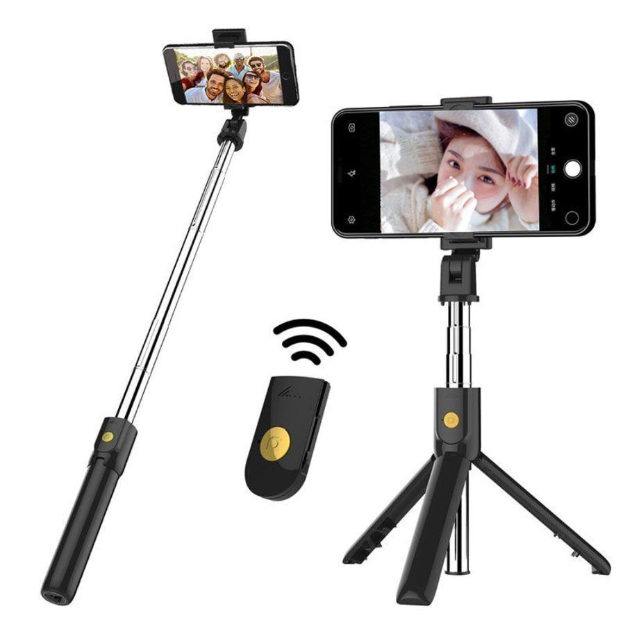 2 in 1 Wireless Mini Extendable Monopod Universal bluetooth Selfie Stick Tripod For iPhone Samsung smartphone