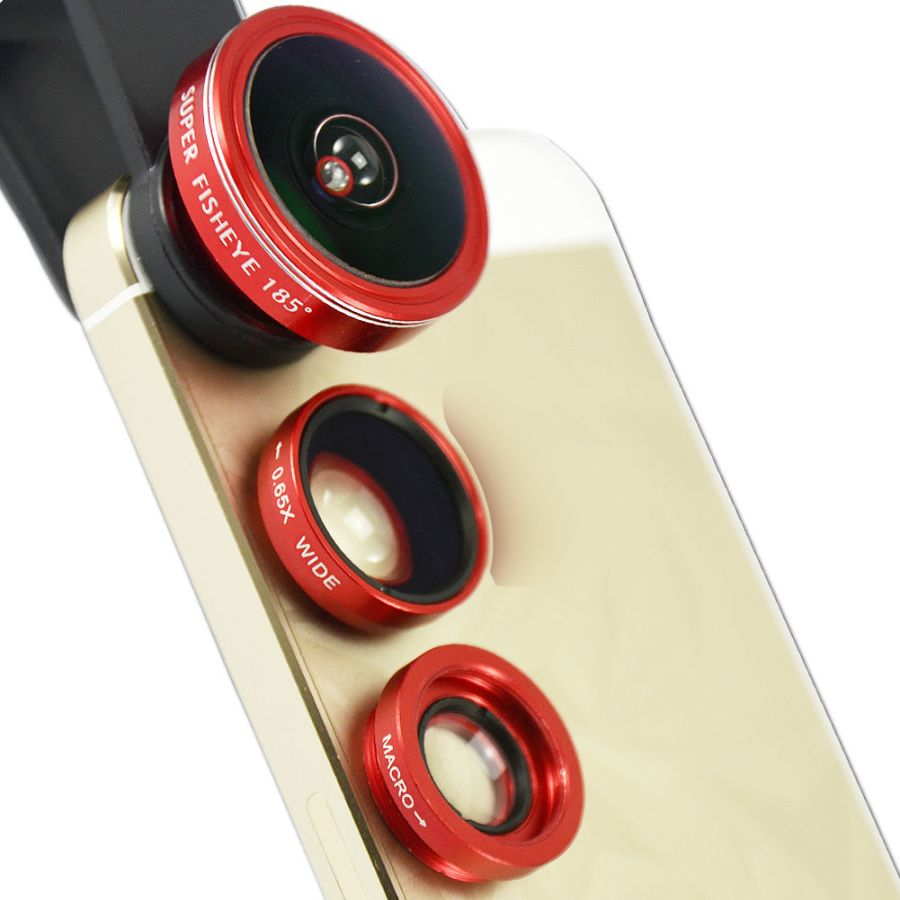 Universal Mobile Phone Camera Wide Lens Clip Angle kit Telescope Zoom Fisheye