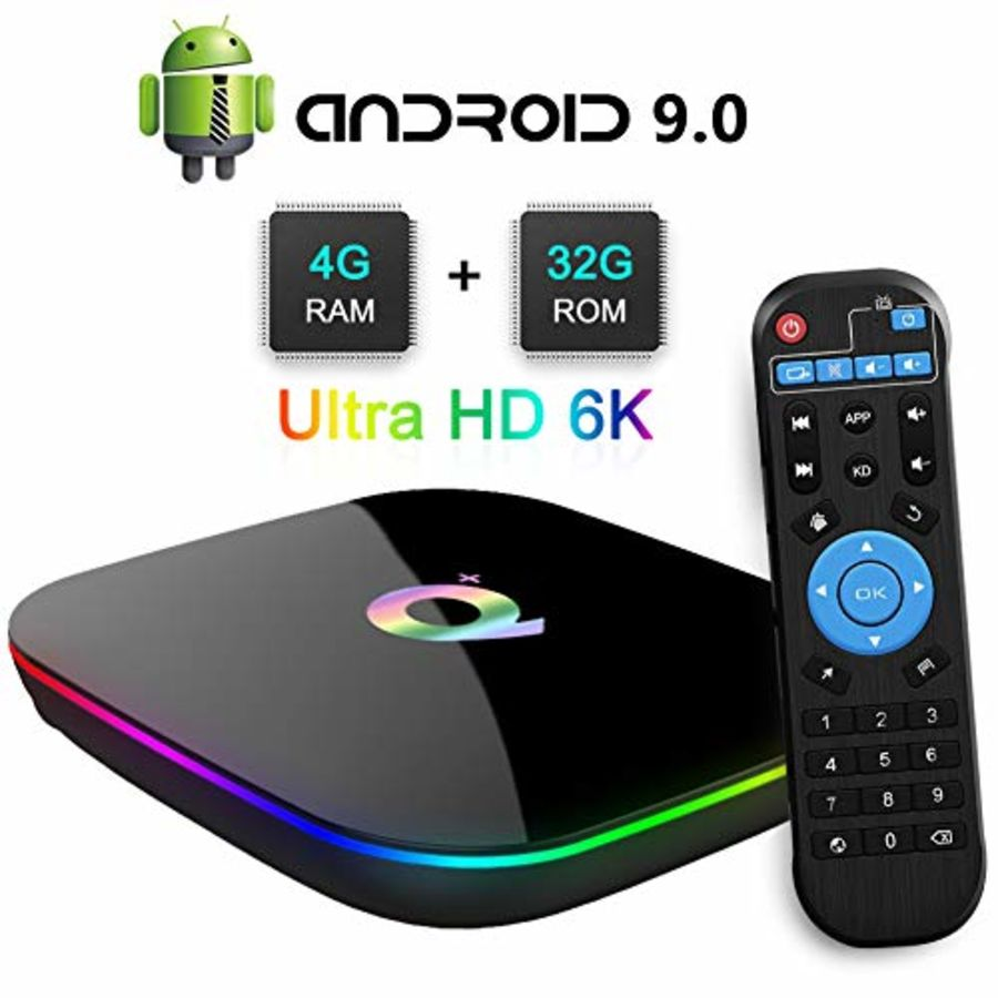 Q Plus Smart TV Box Android 9.0 Allwinner H6 4GB/32GB 6K H.265 Media Player U2W8