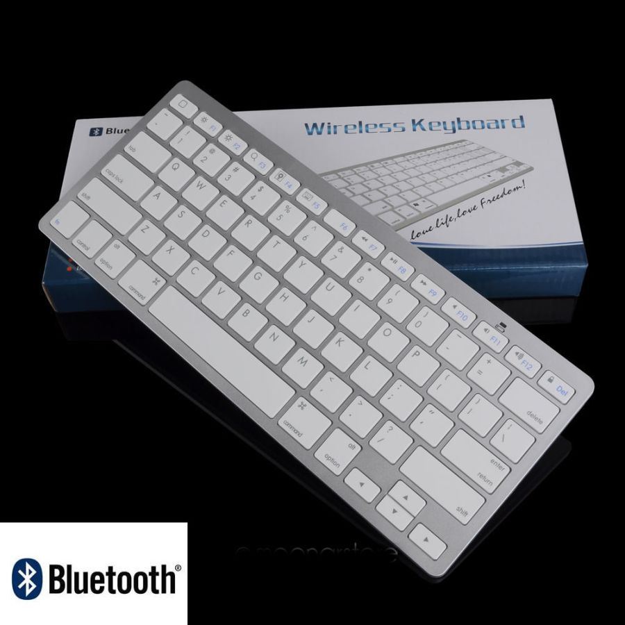 Bluetooth Wireless Keyboard 3.0 Slim for Mac/ PC/ Tablet Smart Phone iPad iPhone
