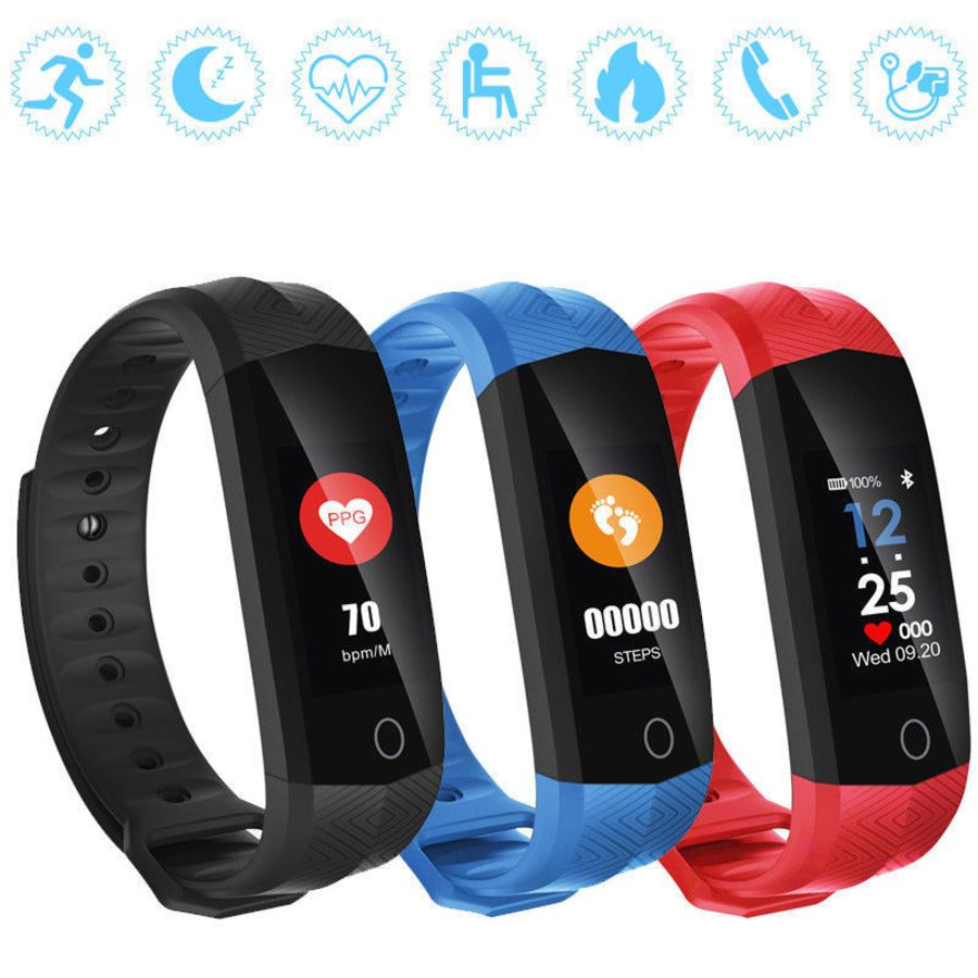 CD02 Bluetooth Wristband Wireless Smart Watch Waterproof Sports Fitness Tracker