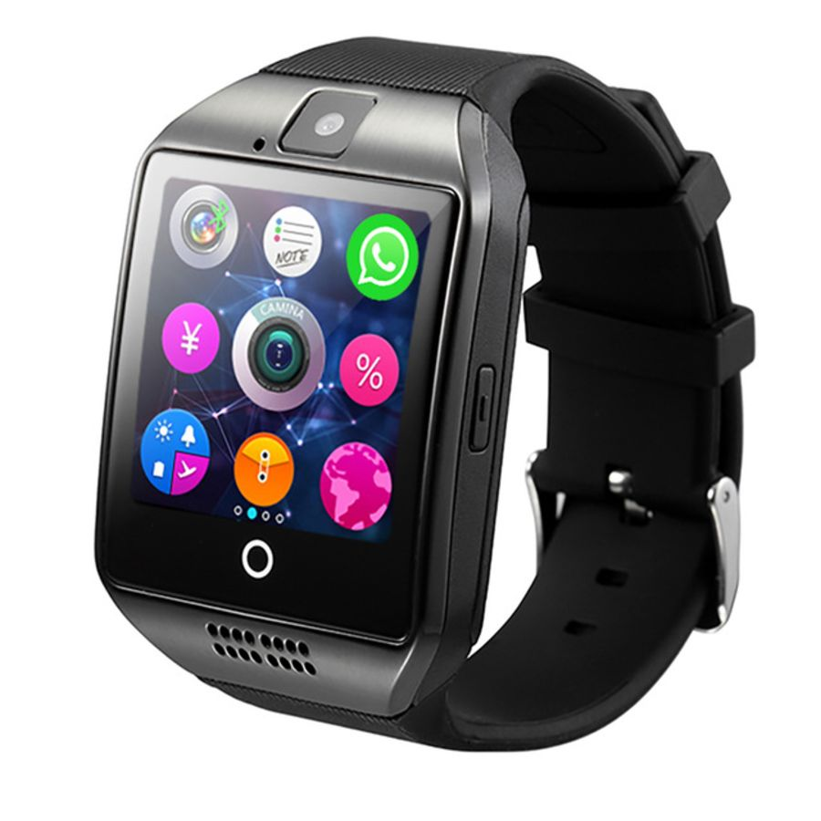2019 Q18 Bluetoth Smart Watch GSM Camera TF Card Phone Wrist Watch For Android 3 Colours For facebook/twiter