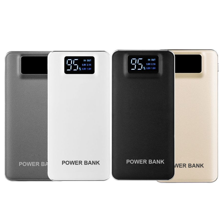 30000mah Portable 2 Usb Led Lcd Power Bank Charger External Battery