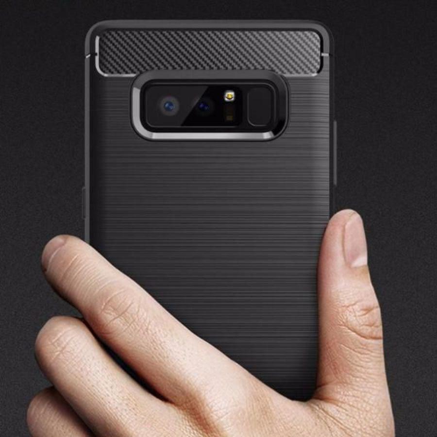 Black Carbon Fiber Textured Armor  phone case cover for SAMSUNG NOTE 8 Case