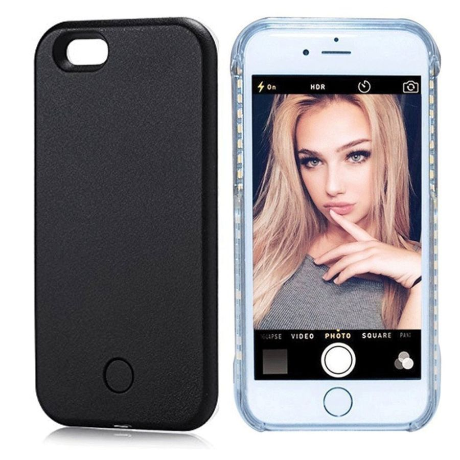 LED Light Up Selfie Phone Back Case Cover For iPhone 7