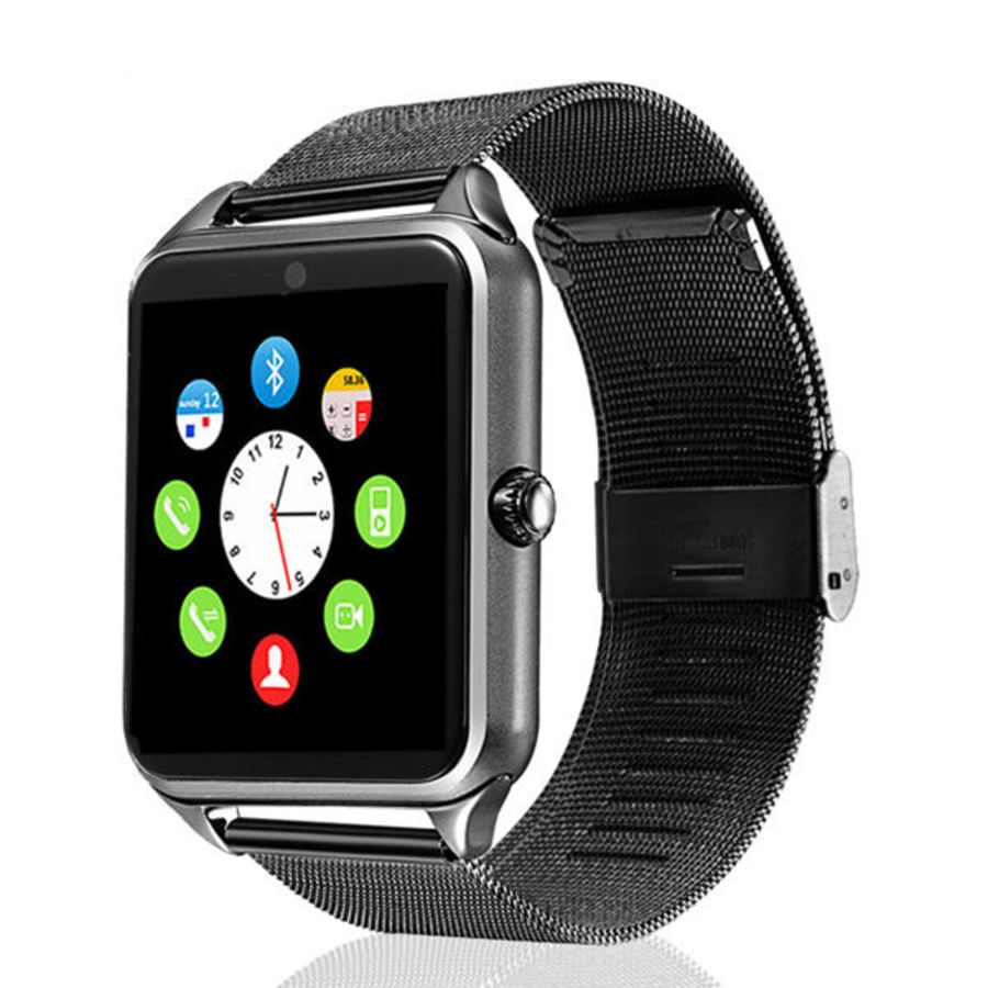 Z60 Smart Watch GT08 Plus Metal Clock With Sim Card Slot Push Message Bluetooth Connectivity Android Phone