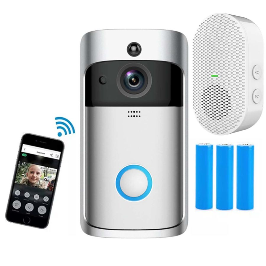 V5 Wifi Doorbell Camera Smart WIFI Video Intercom Doorbell Video Call for Apartments IR Alarm Wireless Color Len Security Camera