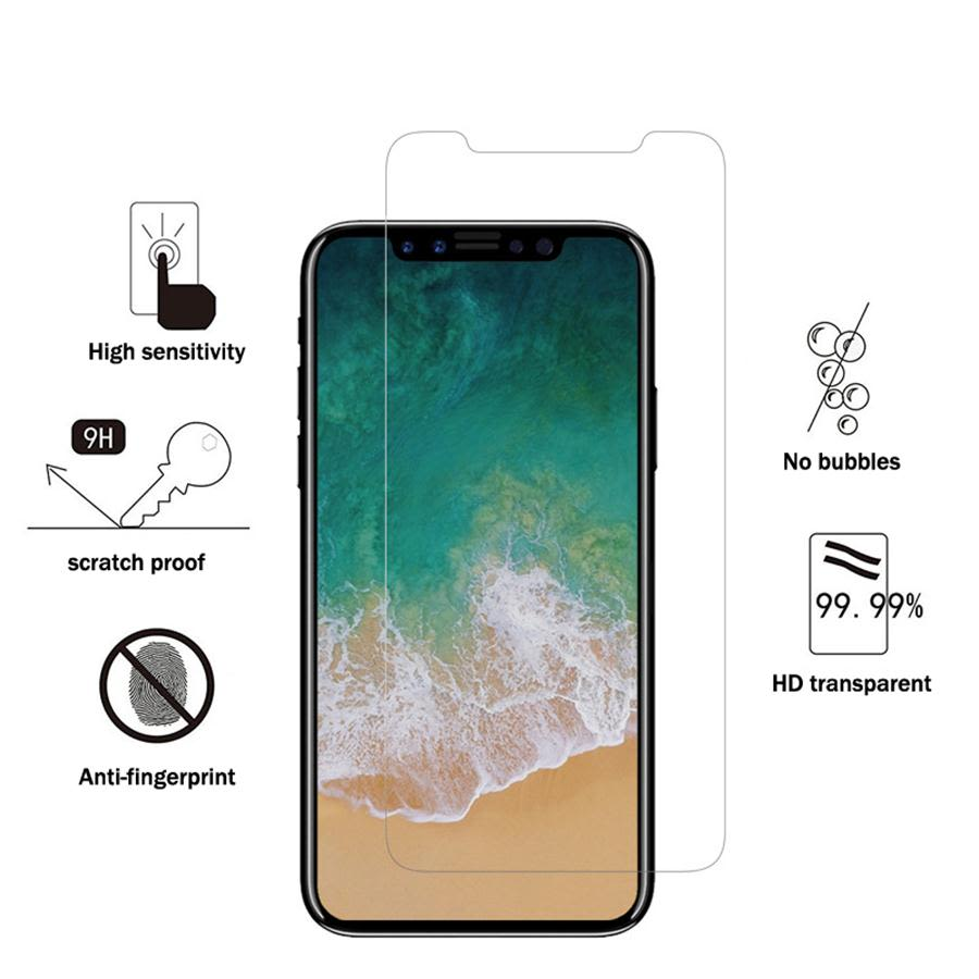 Premium  Tempered Glass Screen Protector for iPhone X 2.5D Arc edge 9H Glass film (Not Full Screen)