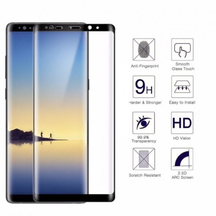 Genuine Full 3D Curved Tempered Glass Screen Protector For Samsung Galaxy Note 8