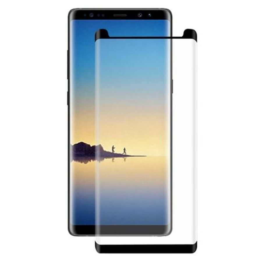 NEW 100% GENUINE TEMPERED GLASS FILM SCREEN PROTECTOR FOR SAMSUNG NOTE 8 Black