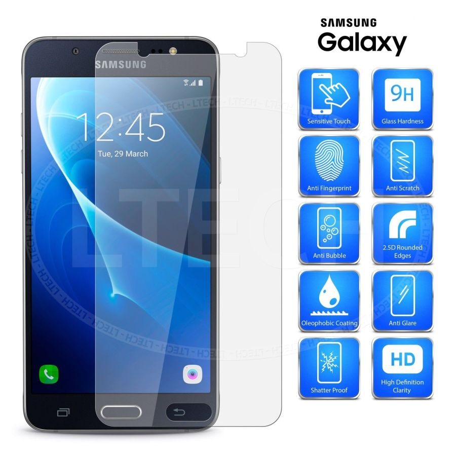 Premium Real Tempered Glass Screen Protector Protective Film Cover For Samsung A7